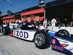 "Mario Andretti and the crew wait for the next shoot at the 2011 Honda ""Backseat Driver"" IZOD two-seater commercial at Auto Club Speedway in Fontana, CA."