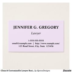 Minimalist and plain paralegal business card pinterest paralegal clean customizable lawyer business card colourmoves