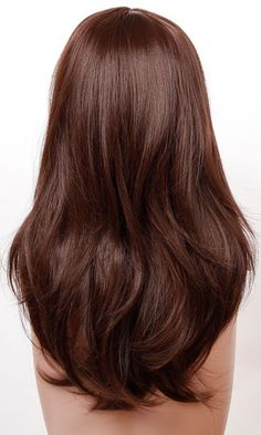 Snoilite Layered Hair Style Full Wigs 23 Wavy Medium Brown Wig Vogue Womens Dail…, - All For Hair Color Balayage Hair Color Auburn, Brown Hair Colors, Brown Auburn Hair, Medium Auburn Hair, Hair Medium, Purple Hair, Long Face Hairstyles, Woman Hairstyles, Simple Hairstyles
