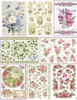 Rice paper STAMPERIA  21х29.7cm. Decoupage. scrapbooking. crafts. FLOWERS