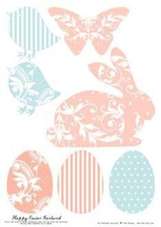 todi: Free Printables for Easter Decoration. The print used for this rabbit silhouette is darling.