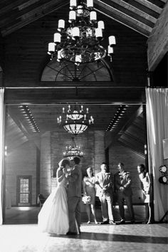 Dance the night away in a chandeliered barn. :)  Ron Dressel Photography