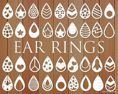 Diy Leather Earrings, Diy Earrings, Teardrop Earrings, Leather Jewelry, How To Make Leather, Circuit Crafts, Cricut Craft Room, Cricut Creations, How To Make Earrings