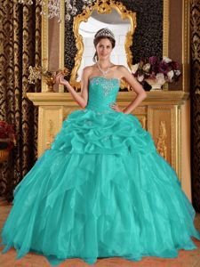 Sweetheart Organza Appliques with Beading Sweet Sixteen Dresses in Joplin