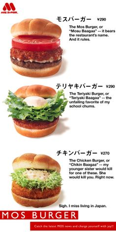 Man, I wish we had a MOS Burger in the US!!! // me too bro