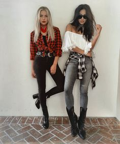 The Perfect Pair (Ashley Benson & Shay Mitchell) Wear Plaid and as always they slay the game