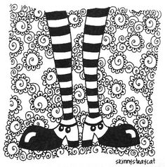 Happy Feet-have kids design the ultimate shoe/boot/socks and add pattern to background