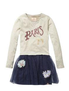 Scotch R'belle Mädchen Kleid, Sweat dress with tule skirt