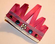 Princess Tiara hair clip by SarasLovins on Etsy, $2.00