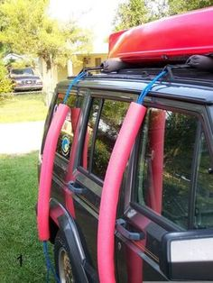 Kayak Storage Trailer Paddle Fishing asked it's readers how they use pool noodles – check out some great uses for fishing/camping. Sit In Fishing Kayak, Canoe And Kayak, Fishing Tips, Fly Fishing, Canoe Boat, Fishing Knots, Canoe Trip, Kayak Rack, Kayak Storage