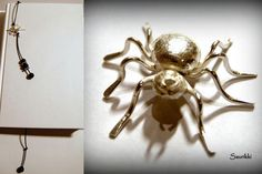 Saurikki Spider, Insects, Handmade Jewelry, Brooch, Spiders, Hand Print Ornament, Handmade Jewellery, Diy Jewelry, Handcrafted Jewelry