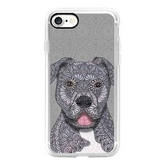 Pitbull -Junior-dog - iPhone 7 Case, iPhone 7 Plus Case, iPhone 7... ($40) ❤ liked on Polyvore featuring iphone case