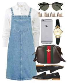 """""""Untitled #5910"""" by rachellouisewilliamson on Polyvore featuring rag & bone, Topshop, Gucci, Ray-Ban and Vivienne Westwood"""