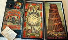 Games of the Pilgrim's Progress - 3 Games in one set, McLoughlin Bros, 1875 Board Game