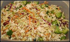 One of my most favorite things to eat- Oriental Cole Slaw Slaw Recipes, Healthy Recipes, Yummy Recipes, Recipies, Oriental Coleslaw, Asian Coleslaw, Asian Slaw, Slow Cooker Breakfast, Apple Pork Chops
