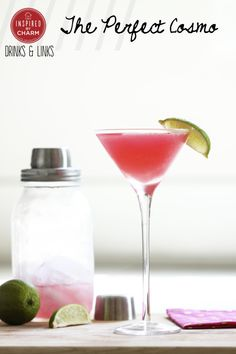 The Perfect Cosmo via Inspired by Charm #DrinkandLinks