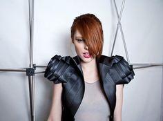 Greta Constantine seat-belt clothing, seat-belt fashion, recycled seat belts, upcycled seat belts, eco-fashion, sustainable fashion