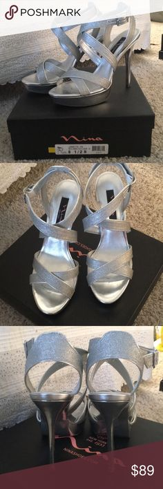 6ff92d4ff07191 Touch of Nina Silver Sandals W  Stones in 2018