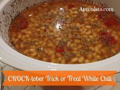 CROCK-tober Trick or Treat White Chili at Apronista.com- 31 days of crockpot recipes