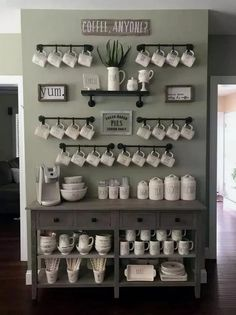 Best Home Coffee Bar Ideas for All Coffee Lovers Are you looking for inspiration to design coffee bar? Check out our best collection of DIY coffee bar ideas for your home that will brighten your morning. Coffee Bar Home, Home Coffee Stations, Coffee Bar Design, Beverage Stations, Coffee Nook, Drink Coffee, Coffee Set, Coffee Tables, Office Coffee Station