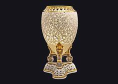 Grainger Worcester Pierced / Reticulated Orientalist Gilt Amphora Shape Vase Potpourri Holder - 19th Century, England