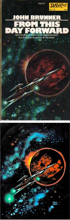FRANK KELLY FREAS - From This Day Forward - John Brunner - 1973 DAW Books - cover from isfdb - print by tumblr
