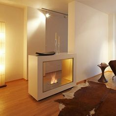 Vision Free Standing Gas Fireplace by EcoSmart Fire on HomePortfolio