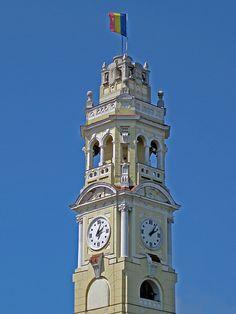 Turnul Primăriei - Oradea city. Beautiful Places In The World, Wonderful Places, Famous Castles, Austro Hungarian, Art Nouveau Architecture, My Town, Spaces, Country, City