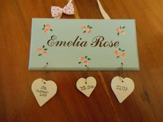 .bespoke personalised handmade wooden / mdf plaques - shabby chic - door plaques