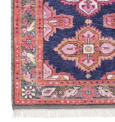 A stunning antique-inspired Persian rug created in all our favorite hues. It is as luxurious underfoot as it is stylish. Dress it up with coordinating pillows or juxtapose it with casual furnishings f Custom Rugs, Custom Pillows, Home Studio, Home Renovation, Navy Rug, Kitchen Rug, Kitchen Sink, Kitchen Floor, Kitchen Design