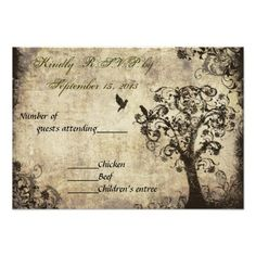 ShoppingVintage Tree Wedding RSVP with Green Text Custom Invitationstoday price drop and special promotion. Get The best buy