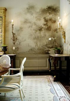 Wallpaper Murals 21 | theatre | Pinterest | Dining room walls ...