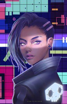 Sombra, Janice Sung on ArtStation at https://www.artstation.com/artwork/JWD0n - More at https://pinterest.com/supergirlsart #overwatch #fanart