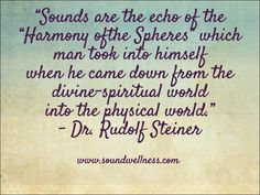 Music from our divine origin...Om... From Sharon Carne. Join our email list - receive a gift of a 60 min. MP3 of Woodland Song. Give your day some ahhhh... www.soundwellness.com