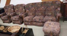 Мека мебел с дамаска и дъбова конструкция-286лв.ПРОМО