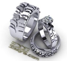 tread band super etsy tire ring wedding rings motocross terrific bike dirt