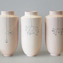 matte porcelain vase at Restored, Amsterdam.