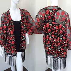 Rose embroidered kimono Gorgeous on great quality no trade price firm Other