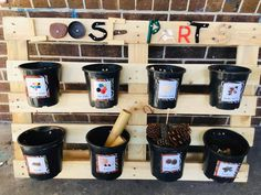 loose parts - outdoor storage idea for loose parts Eyfs Outdoor Area, Outdoor Play Areas, Outdoor Learning Spaces, Outdoor Education, Eyfs Classroom, Outdoor Classroom, Natural Playground, Outdoor Playground, Outdoor Nursery