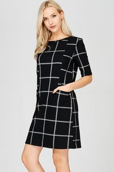 WORK TO PLAY SHIFT DRESS - BLACK $36.00  https://www.bluechicboutique.com/collections/dresses/products/work-to-play-shift-dress-black