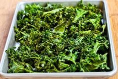 Kalyn's Kitchen®: Recipe for Roasted Kale Chips with Sea Salt and Vinegar