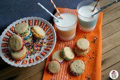 cake cookies with rainbows & sprinkles