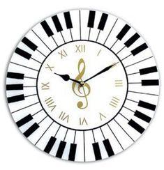 Wall Clock Gift, Diy Clock, Touches De Piano, Music Clock, Music Wall, Handmade Wall Clocks, Diy Wood Wall, Cool Clocks, Wooden Clock