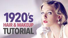 1920s makeup & hair tutorial - YouTube