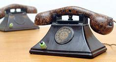 Pre-World War Two Bakelite telephones