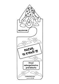 Visačka na kľučku - Halloween Container, Halloween, Education, Onderwijs, Learning, Spooky Halloween