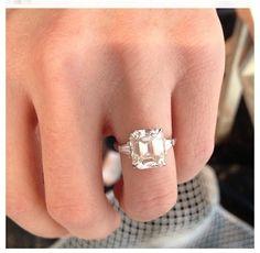 Asher cut center stone engagement ring - Seduction Way