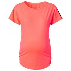 sport t-shirt Feline coral - Yoga en Sport - Zwangerschapskleding - BellyFashion.nl