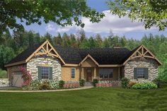 This a unique floor plan. The front elevation can be changed if the Craftsman style is not for you! House Plan 456-22
