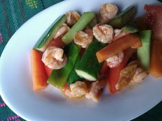 Sauteed Veggies with Prawns